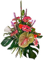 Beautiful flowers basket Sweet Tropics - view more