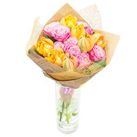 Bouquet of roses and tulips Spring - view more
