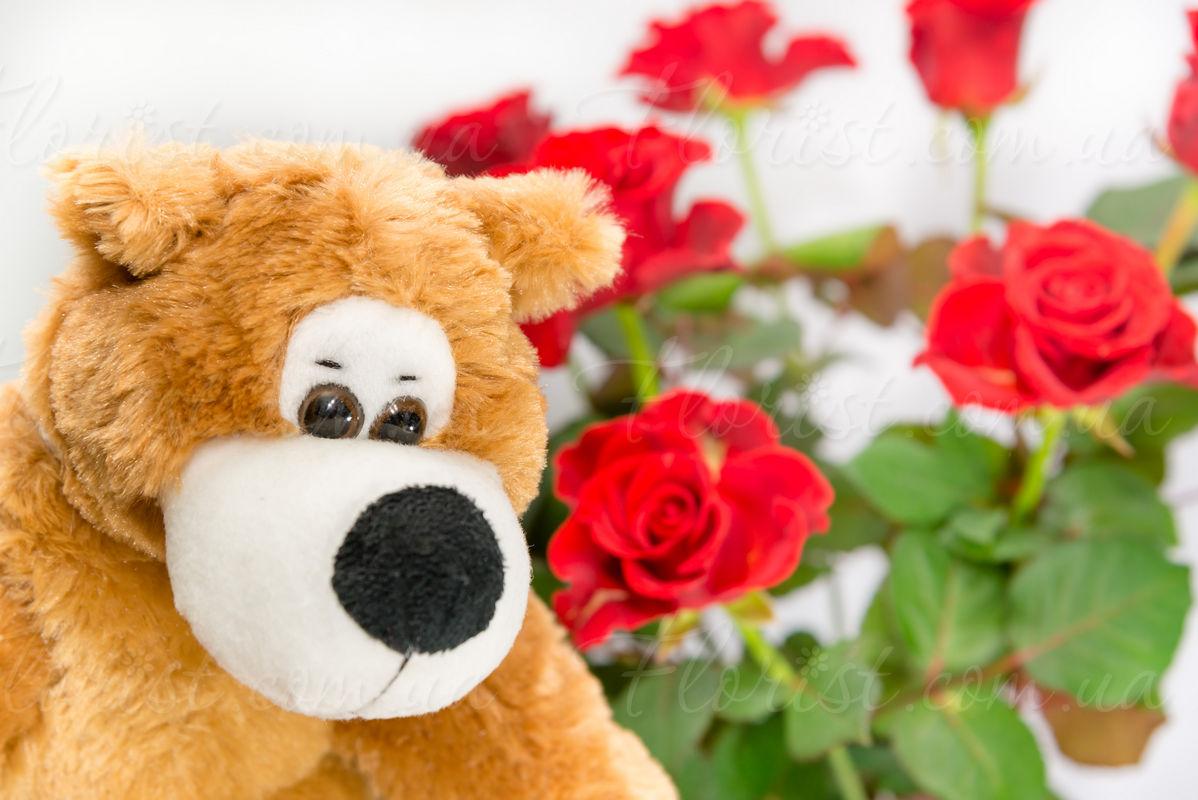 Заказ цветов с большой игрушкой доставка цветов курьером по москве