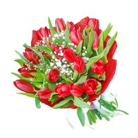 Bouquet of red tulips Bright Tulips - view more