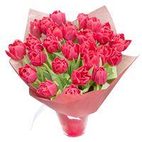 Букет  из тюльпанов Огненный Рассвет