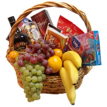 Fruit-sweet basket Rich gift - view more