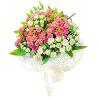 Bouquet of bush roses Summer Etude
