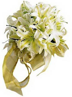 Bouquet of white lilies Orientale - view more