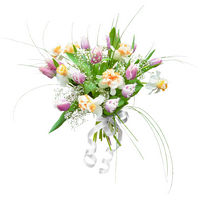 Mixed bouquet of tulips and narcissuss Violet - view more