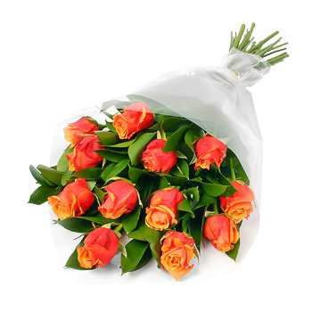 Bouquet of orange roses Joyful Roses - view more