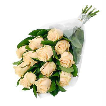 Bouquet of peach roses Unexpected Roses - view more