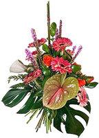 Красивая цветочная корзина Сладкие Тропики