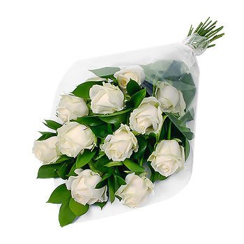 Bouquet of white roses Gentle Roses