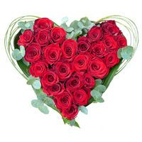 Bouquet Heart of red roses - view more