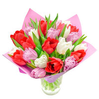 Bouquet of tulips Colorful Spring - view more