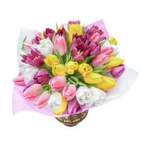 Bouquet of mixed tulips Flowers Of Spring