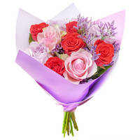 Bouquet of mixed color roses Ardent - view more