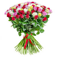 Bouquet of mixed roses Bright Сonfession - view more