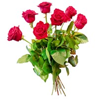 Bouquet of red roses Shy Kiss