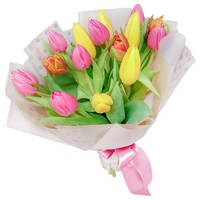 Bouquet of mixed tulips Dance of Flowers - view more