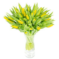 Bouquet of yellow tulips Spring summer