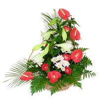 Flowers in basket For Boss