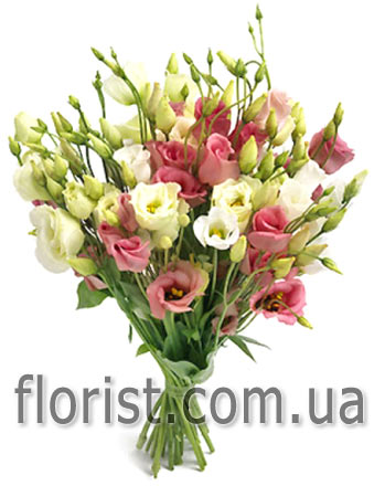 Bouquet from eustoma - view more