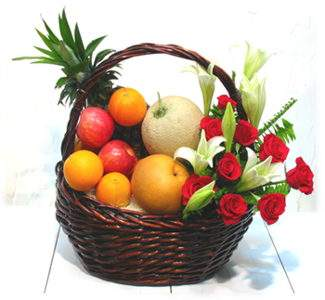 Flower-fruit basket Tasty Day - view more