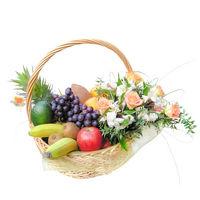 Фруктово-цветочная корзина Сладкий Подарок - смотреть подробнее