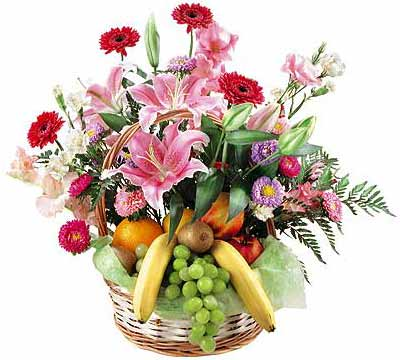 Flower-fruit basket Fancy Fruit - view more