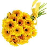 Bouquet of yellow gerberas Sunshine - view more