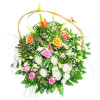 Flowers basket Spring Holiday