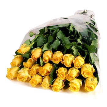 Big bouquet of yellow roses Bright Holiday