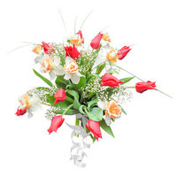 Bouquet of tulips and narcissuss Splash