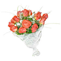 Bouquet of orange roses Sincere Smile