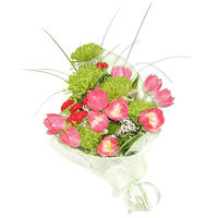 Bouquet of tulips, chrysanthemums, carnations Spring Gift
