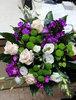 Фото 1. Доставка весеннего сборного букета из роз, хризантем, эустомы - Германия, Дортмунд. florist.com.ua